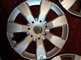 4 GENUINE CITROEN 16 INCH WHEELTRIMS