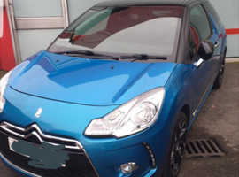 Citroen Ds3, 2011 (61) Blue Hatchback, Manual Diesel, 40,000 miles