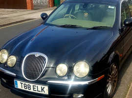 Jaguar S-TYPE, 2002 (02) Black Saloon, Automatic Petrol, 100,000 miles