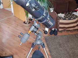 Celestron AstroMaster 130EQ Telescope - Motor Drive - Reflector (plus extra accessories)