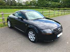 Audi TT, 2005 (55) Black Coupe, Manual Petrol, 90,400 miles