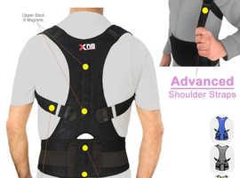 Xn8 Sports Neoprene Magnetic Lumbar Shoulder Support Strap Breathable - Grey UNISEX