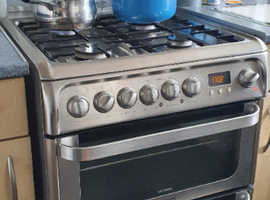 Hotpoint double oven and twin grill. Gas / electric dual cooker.