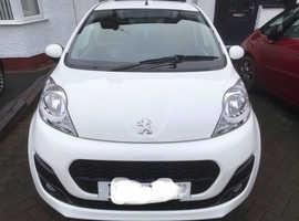 Peugeot 107, 2014 (14) White Hatchback, Manual Petrol, 30,800 miles
