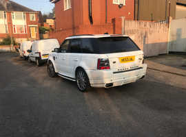 *RARE*OVERFINCE Range Rover Sport, 2007 (07) white hatchback, Automatic Diesel,
