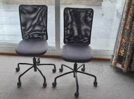 2 Ergonomic Office Chairs, will separate
