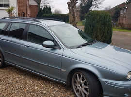 Jaguar X-TYPE, 2004 (54) Blue Estate, Manual Petrol, 122,000 miles