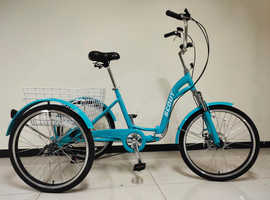 adults tricycle, folding frame, 24 inch wheels, 6-speed shimano gears, SCOUT , adult trikes, alloy