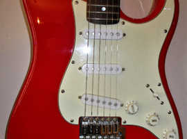Squier Affinity Red Strat.  Very good condition. New Strings and Set-up