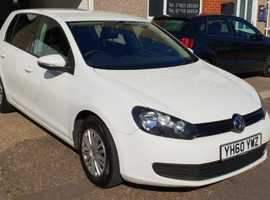 Volkswagen Golf, 2010 (60) White Hatchback, Manual Diesel, 67,000 miles