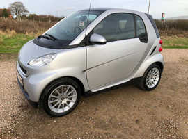 Smart Fortwo Coupe, 2007 (57) Silver Coupe, Automatic Petrol, 58,730 miles Excellent Condition New MOT&Service