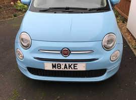 Fiat 500, 2016 (16) blue hatchback, Manual Petrol, 10,890 miles