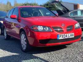 Nissan Almera, 2004 (04) Red Hatchback, Manual Petrol, 75,000 miles