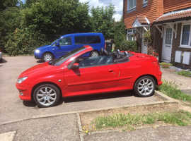 Peugeot 206, 2006 (56) Red Coupe, Manual Diesel, 135,952 miles
