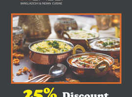 25% Discount On Takeaway Orders Over £20 | Mumbai Indian Cuisine