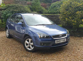 Ford Focus, 2007 (07) Blue Hatchback, Manual Petrol, 56,000 miles