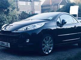 Peugeot 207, 2014 (14) Black Convertible, Automatic Petrol, 14,000 miles 6k neg