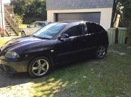 Seat Ibiza, 2008 (57) Black Hatchback, Manual Diesel, 125,100 miles