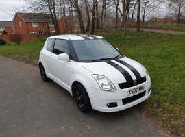 Suzuki Swift, 2007 (07) White Hatchback, Manual Petrol, 76,000 miles