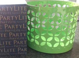 PartyLite Jar Candle Holder - Lime Pierced Jar Holder