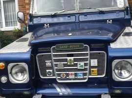 Land Rover Series III, 1973 (M) blue 4x4, Manual Petrol, 74467 miles
