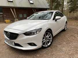 Mazda MAZDA 6, 2013 (13) White Saloon, Manual Diesel, 59,500 miles, Sat Nav, Leather Interior