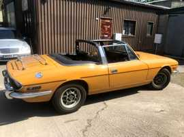 Triumph Stag, 1972 (K) yellow coupe, Manual Petrol, 10,000 miles