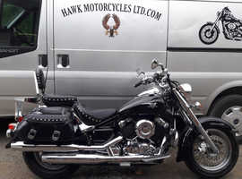 AMAZING 2008 YAMAHA XVS650 VSTAR CLASSIC, PANNIER BAGS, HEATED GRIPS, 1 PREVIOUS OWNER