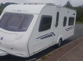 2009 FIXED BED 4 BERTH ACE AWARD FIRESTAR. AUTO MOTOR MOVER. PORCH AWNING. ALL ACCESSORIES. READY TO GO. OUTSTANDING CONDITION.