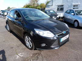 Ford Focus, 2013 (13) Black Hatchback, Manual Diesel, 71,559 miles