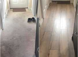 Proffesional laminate flooring//vinyl and tile fitter, maintenance services