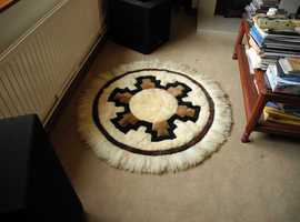Alpaca and/or Vicuna round wall hanging rug