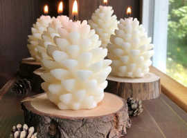 3D CHRISTMAS PINE CONE SILICONE CANDLE MOLD