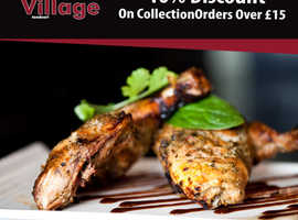 10% Discount On Collection Orders Over £15 | The Village Tandoori
