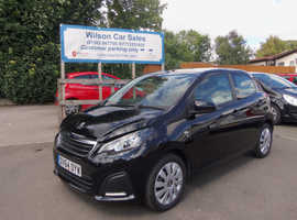 Peugeot 108, 2014 (64) Black Hatchback, Manual Petrol, 32,000 miles