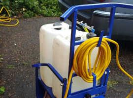 Reach & wash 50 litre trolley & equipment.