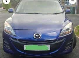 Mazda MAZDA 3, 2009 (59) blue hatchback, Manual Diesel, 87,000 miles
