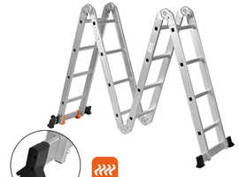 COSTWAY 4.7M Aluminium Folding Ladder Step Ladder (TL35127)