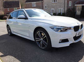 BMW 3 Series, 2015 (15) White Estate, Automatic Diesel, 32,172 miles, Very High Spec