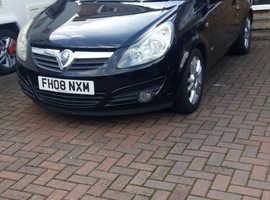 Vauxhall Corsa, 2008 (08) Black Hatchback, Manual Petrol, 46,585 miles
