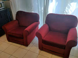 Three piece suite (Sofa and two armchairs) for free on collection.