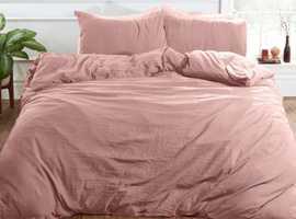 Brentfords Washed Linen Duvet Cover Set