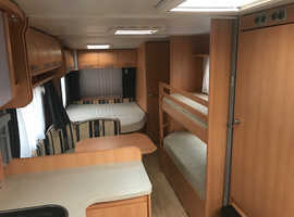 T.E.C. Travel King 720 RDK 2008 7/8 Berth Fixed Bed + Fixed Bunk Beds Twin Axle Caravan + Large Awning