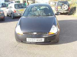 Ford Ka, 2007 (07) Black Hatchback, Manual Petrol, 96,000 miles