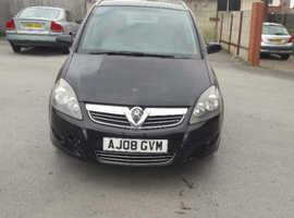 Vauxhall Zafira, 2008 (08) Black MPV, Manual Petrol, 101,000 miles