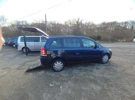 Vauxhall Zafira Gowrings mobility wheelchair car 2012 reg, 50000 miles, fsh, free delivery, part exchange welcome