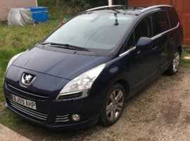 Peugeot 5008, 2010 (59) Blue MPV, Manual Diesel, 116,000 miles