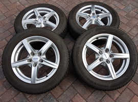 Set of 4 LOW MILEAGE Winter Tyres & Alutec Alloys for Honda Civic Mk8 & Mk9 Continental TS850