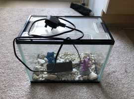 Fish tank with pump and Gravel
