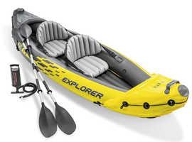 Intex K2 Explorer Inflatable 2 Person Kayak - BRAND NEW